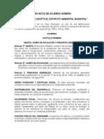 Proyecto de Acuerdo Estatuto Ambiental CORREGIDO