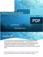 Microfinance Revolution in India