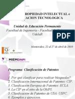 Curso Propiedad Intelectual - Clasificacion de Patentes