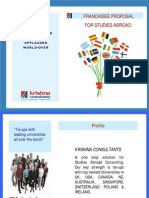 Franchisee Proposal for Studies Abroad Counselors