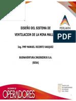 DISEÑO DEL SISTEMA DE VENTILACION DE LA MINA MALLAY