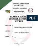 Planificacion y Control de o.c.