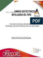 MAPA DE DOMINIOS GEOTECTÓNICOS Y METALOGENIA DEL PERÚ