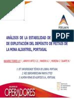 ANÁLISIS DE LA ESTABILIDAD DE LOS TAJEOS DE EXPLOTACIÓN DEL DEPÓSITO DE FEITAIS DE LA MINA ALJUSTREL, PORTUGAL