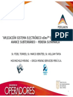 APLICACIÓN SISTEMA ELECTRÓNICO eDevTM EN VOLADURAS DE AVANCE SUBTERRÁNEO – MINERA SUYAMARCA