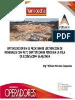 OPTIMIZACION EN EL PROCESO DE LIXIVIACION DE MINERALES CON ALTO CONTENIDO DE FINOS EN LA PILA DE LIXIVIACION LA QUINUA