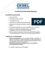 Requisitos Practicas Pre Profesionales