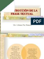 Construcción de La Frase Textual