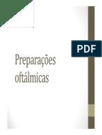 Farmacotécnica II Aula Preparações Oftálmicas