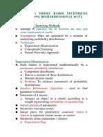 Data Mining-Model Based Clustering