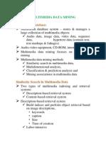 Data Mining-Multimedia Datamining