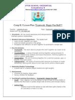 comp b 3 lesson plan - teamwork happy fun ball