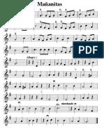 Las Mañanitas violin easy