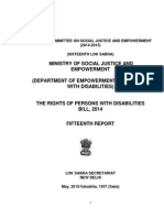 RPWD Bill - Report by Standing Committee Bill MSJE