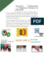 Análisis Elecciones Presidenciales Municipales y Presidencia Municipal de Cora Amalia 2005