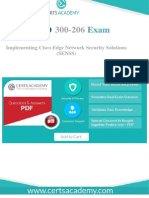Pass 300-206 Exam Today - 100% Valid and Updated Questions