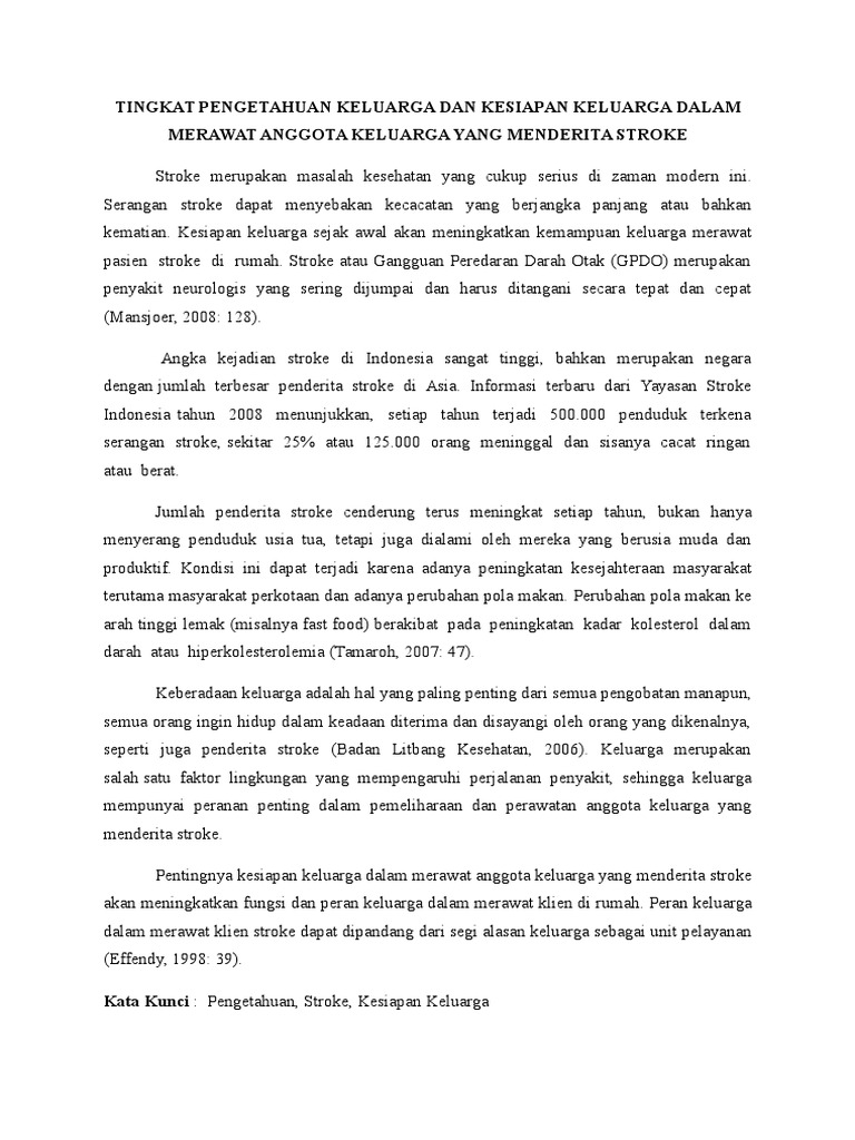 Judul Judul Proposal Penelitian Keperawatan Komunitas
