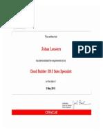 Cloud Builder 2012 Sales Specialist