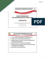 Hasil Pembahasan Pra Musrenbangnas 2015 Bidang Pendidikan