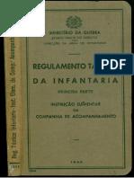 Regulamento Tactico Da Infantaria - Primeira Parte - Instrucao Elementar Da Companhia de Acompanhamento _ -1948