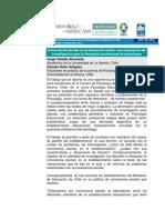 LECTURA 8. Convivencia en La Educacion Media Una Experiencia en La Investigacion Para La Formacion Profesional de Psicologos