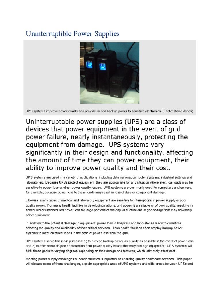 Uninterruptible Power Supplies Supply Inverter Ups Basic Circuit Diagram