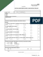 Formular Evaluare Subcontractori