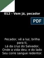 012 - Vem Já, Pecador