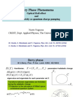 Berry Phase PhenomenaOptical Hall effect and Ferroelectricity as quantum charge pumping