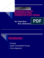 Techniques for the Detection of Seed Transmitted Plant viruses