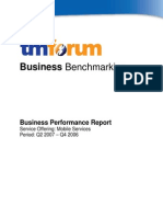 TM Forum Business Benchmarking Mobile Services Q2 2007 Non-participant Report