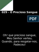 029 - O Precioso Sangue