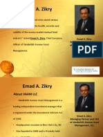 Emad A Zikry Chief Executive Officer at Vanderbilt Avenue Asset Management, LLC.
