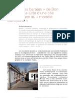 Les « Cases barates » de Bon Pastor ou la lutte d'une cité ouvrière face au « modèle Barcelone »