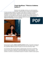Senatrice Anna Cinzia Bonfrisco Fiducia Al Sistema Bancario, Oltre Basilea 3