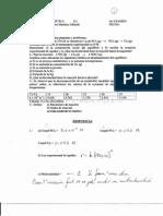 Equilibrio y cinética examen 1