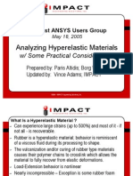 ANSYS Users Group_Hyperelastic Materials