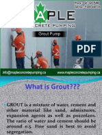 Best Grout Pumping Services in Toronto—Maple Concrete Pumping