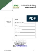 Application Form SU Faculty