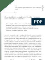 Germano Nogueira Prado-O Escandalo Do Escandlo Da Filosofia-Heidegger Como Refutador Do Idealismo (Artigo)