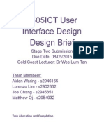 design brief user interface design stage2