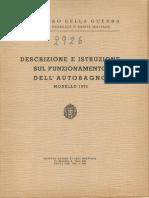 Descrizione e istruzione sull'autobagno modello 1935 (2926) 1935