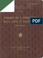 Istruzione sul funzionamento della stufa di disinfezione (Sistema Giannolli) (1803) 1940