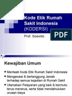 Kode Etik Rumah Sakit Indonesia