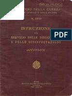 Istruzione sul servizio delle disinfezioni e delle disinfestazioni - Appendice (2553) 1933