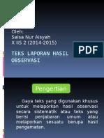 Teks Laporan Hasil Observasi PPT