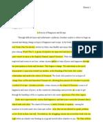 project text essay revisions