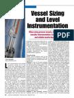 Vessel sizing and level instrumentation