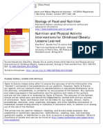Ecology of Food and Nutrition 2014