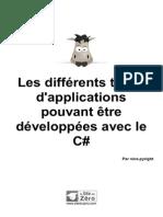 579765 Les Differents Types d Applications Pouvant Etre Developpees Avec Le c